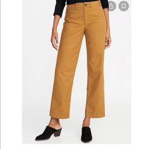 Old Navy mid rise wide leg pants.